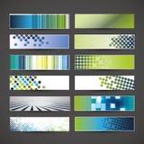 12 conceptions en blanc de bannière Image libre de droits