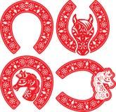 Conceptions en fer à cheval de symbole réglées Photo libre de droits