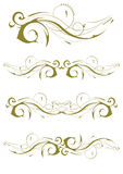Conceptions exquises de décoration d'Ornamental et de page Image stock
