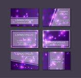 conceptions facilement trois editable de ramassage de carte de visite professionnelle de visite Éléments décoratifs de lueur bril Image stock