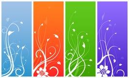 Conceptions florales colorées multi Image libre de droits