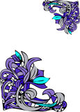Conceptions florales de coin Image stock