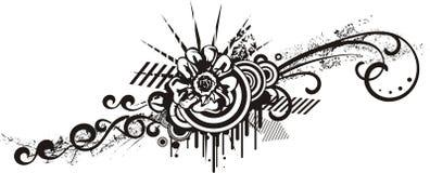 Conceptions florales noires et blanches illustration stock