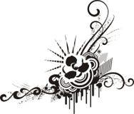 Conceptions florales noires et blanches illustration de vecteur