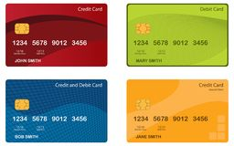 Conceptions par la carte de crédit illustration de vecteur