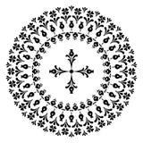 Conceptions rondes avec une croix Photos libres de droits
