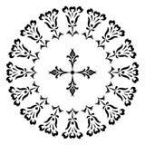 Conceptions rondes avec une croix Photos stock