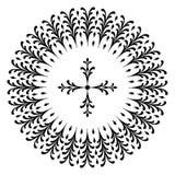 Conceptions rondes avec une croix Images libres de droits