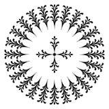 Conceptions rondes avec une croix Images stock