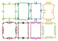 Conceptions simples de cadre Photographie stock