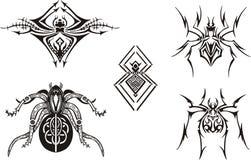 Conceptions symétriques d'araignée Photographie stock