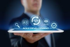 Concepto ágil de Techology de Internet del negocio del desarrollo de programas imagenes de archivo