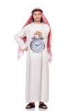 Concepto árabe del hombre a tiempo imágenes de archivo libres de regalías