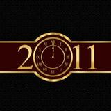 Concepto 2011 del Año Nuevo con el reloj Fotografía de archivo