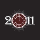 Concepto 2011 del Año Nuevo con el reloj Fotos de archivo libres de regalías
