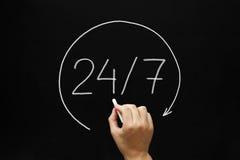 24-7 concepto Imágenes de archivo libres de regalías