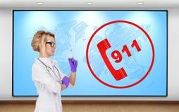 concepto 911 Imagen de archivo