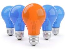 concepto 3d con las lámparas Foto de archivo libre de regalías