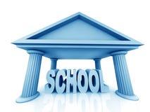 concepto 3d de escuela Fotografía de archivo libre de regalías