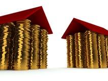 Concepto 3d de la hipoteca stock de ilustración