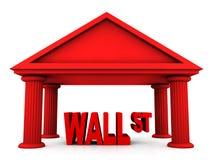 concepto 3d de Wall Street Fotografía de archivo