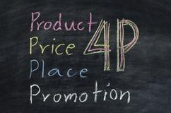 Concepto 4p del márketing Fotografía de archivo