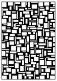 concepto abstracto Blanco-negro Imágenes de archivo libres de regalías