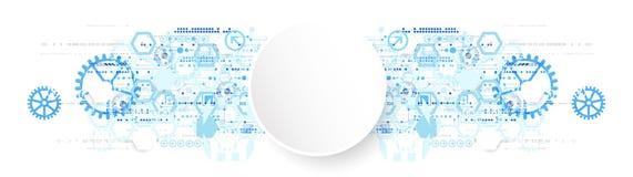 Concepto abstracto de la comunicación de la tecnología del fondo stock de ilustración
