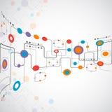 Concepto abstracto de la red del fondo del technplogy Foto de archivo libre de regalías