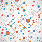 Concepto abstracto de la red del fondo del technplogy Fotos de archivo libres de regalías