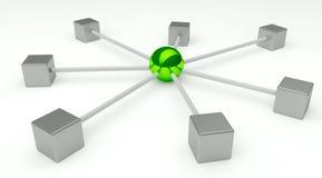 Concepto abstracto de la red y de la comunicación