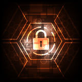 Concepto abstracto de la seguridad de la tecnología del fondo del vector Imágenes de archivo libres de regalías