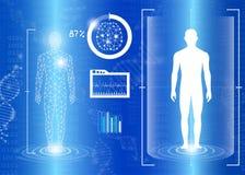 Concepto abstracto de la tecnología del fondo en luz azul Imágenes de archivo libres de regalías