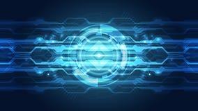 Concepto abstracto de la tecnología digital Fondo del vector Fotografía de archivo
