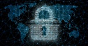 Concepto abstracto de seguridad global de Internet ilustración del vector
