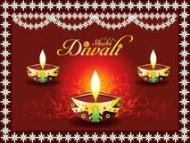 Concepto abstracto del diwali con el deepak
