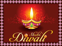 Concepto abstracto del diwali del shubh stock de ilustración