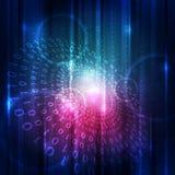 Concepto abstracto del fondo de la tecnología digital del vector Imagenes de archivo