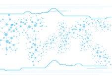 Concepto abstracto del fondo de la tecnología de la malla Ilustración Fotografía de archivo