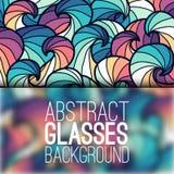 Concepto abstracto del fondo del ornamento con los vidrios Imágenes de archivo libres de regalías