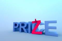 Concepto abstracto del precio y del premio. Fotografía de archivo libre de regalías
