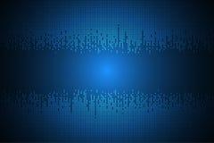 Concepto abstracto del sonido de la tecnología del fondo del vector Imagen de archivo libre de regalías