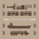 Concepto abstracto del vector de sistema de transporte del aceite mineral Fotos de archivo libres de regalías