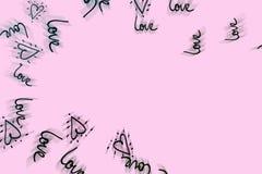 Concepto abstracto rosado del fondo de día del ` s de la tarjeta del día de San Valentín stock de ilustración