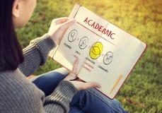 Concepto académico de la educación de la universidad de la universidad de la escuela fotografía de archivo