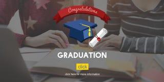 Concepto académico de la universidad de la educación graduada de la graduación imagenes de archivo