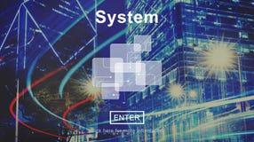 Concepto accesible de la estructura de la producción del progreso del sistema stock de ilustración