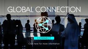 Concepto accesible de la tecnología de Internet de la conexión global imagenes de archivo