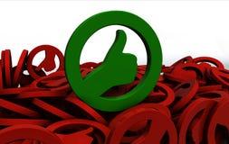 Concepto aceptable del símbolo Fotografía de archivo libre de regalías