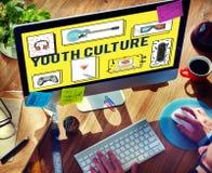 Concepto adolescente de moda libre de Yolo de la cultura joven Foto de archivo libre de regalías